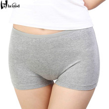 Buy 2017 Cheap New Ms Fashion Sexy Women's Cotton Boxer Shorts Girls Panties Ms Underwears Fat Plus Size Seamless Safety Pant Thick