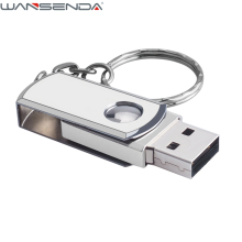 HOT usb flash drive 128GB metal pen drive 8gb 16gb 32gb 64gb usb 2.0 pendrive usb stick flash drive with key chain