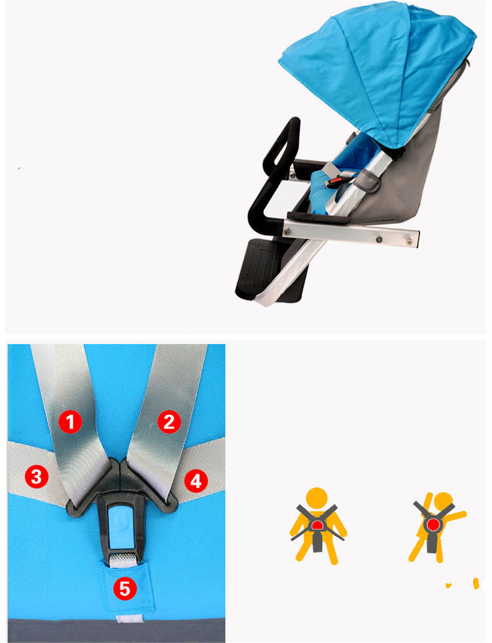 12 Inch Aluminum Alloy Removable Load 160kg Mini 36V 12Ah Electric Family Bicycle Pram Mother and Child Car Stroller07