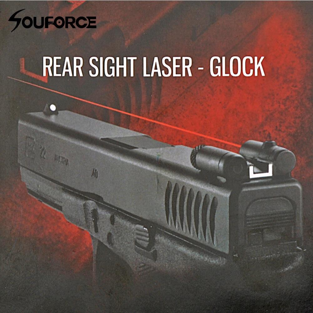 Tactical Steel Rear Sight Laser Red Dot Laser Sight for All Pistol Glock Series Hunting Scope Laser Sight<br>