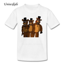 Five Nights At Freddy t-shirt Teen Summer Cute Cartoon T Shirt Pure Cotton Discount Baby Boy Girl Quality Clothing