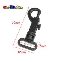 "100pcs Pack 1"" Webbing Plastic Swivel Snap Hooks for Bag Belt Straps Keychain Accessories #FLC017-25B"