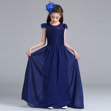 2017 New Teens Girls Prom Dresses for Party and Wedding Wear Evening Gowns Monsoon Kids Clothes Children Long Dress Robe Fille(China)