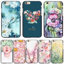 Black PC Case Cover For Apple iPhone 4 4S 5 5S SE 5C 6 6S 6Plus 6S+ Cases Phone Painted Cute Gentle Nest Elaborate Pretty(China)