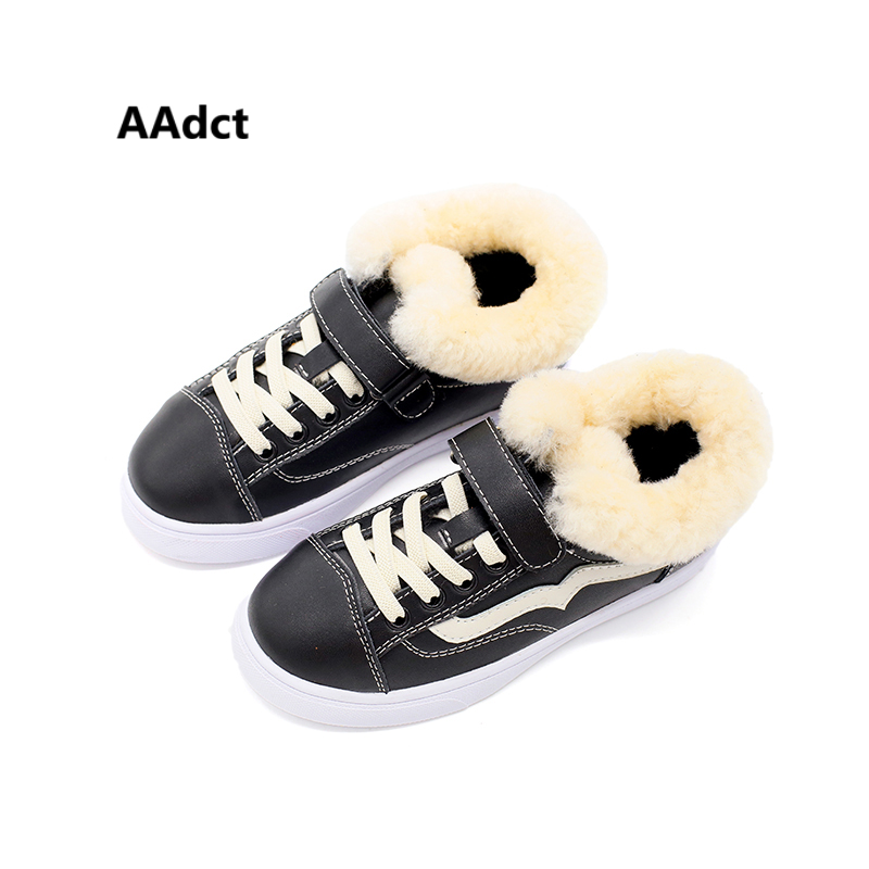 AAdct 2017 Fashion children shoes cotton fur warm girls shoes winter new running sports boys shoes sneakers <br>
