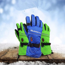 5600 MAH Intelligent Touch Screen Gloves With Electric Heating, Waterproof Ski Lithium Battery 5 Fingers and Hands Back Self-hea
