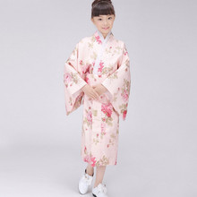 Promotion Traditional Japanese Baby Girl Kimono Dress Cute Kid Yukata Stage Dance Costume Classic Child Cosplay Dress