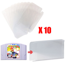 Retro for Nintendo N64 Game Cartridge Clear Scratch Resistant Protector Case Cover x 10 pcs Wholesale