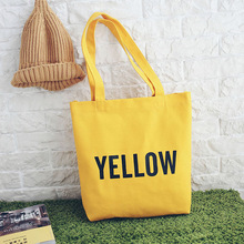 New art canvas bag female shoulder bag student handbag shopping bag letter simple fashion trend gift essential