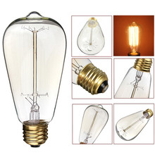 E27 T30-225 G80 ST64 Tungsten Bulb Lighting Industrial Style Vintage Retro Edison Pendant Lamps Bulbs Spiral Light Handmade Glas