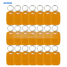 DIYSECUR 100pcs/lot Rfid 125Khz Proximity Rfid ID Card Keychain Key Tags Keyfobs For Access Control System(China)