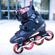 Japy Skate Original 2017 Powerslide EVO Carbon Fiber Professional Slalom Inline Skate Adult Roller Skating Shoes Sliding Patines(China)