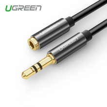 Ugreen jack 3.5mm jack Female to 3.5 mm Male Earphone Headphone Stereo Audio Extension Cable Cord for Computer Speaker Phone(China)