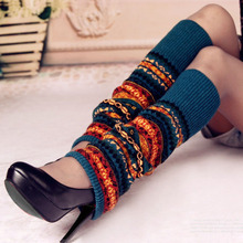 Autumn Winter New Girl Womens 49CM Dazzle Pattern Socks Cover Boots Accessories Japanese Korean Style Leg Warmers Knitted S5299