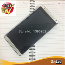 White LCD Display Screen Assemblely Frame For HTC Desire 700 7060 DUAL button at bottom of screen not light up Free ship,1pcs
