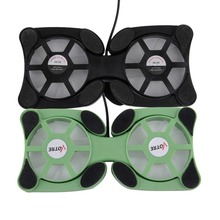 Foldable USB Cooling Fan Mini Octopus Notebook Cooler Cooling Pad Quiet Stand Double Fans For 7 to 15 inch Notebook Laptop PC
