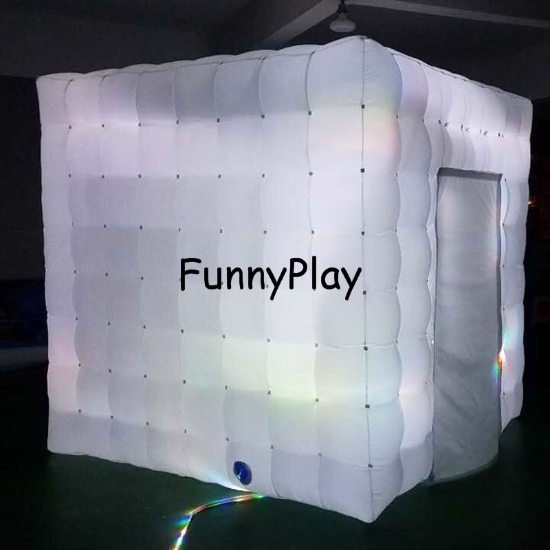LED lighted inflatable photo booth6