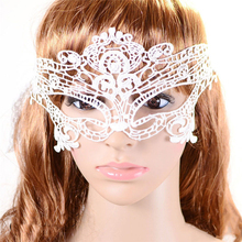 1PCS Beautiful Lady White Lace Mask Floral Eye Mask For Venetian Masquerade Masks Cosplay Fancy Party Dress Accessories Masque