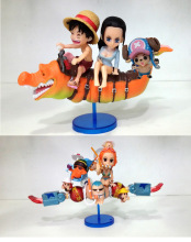Anime One Piece Luffy Nami Robin Chopper Franky PVC Figure Toys 5pcs/set