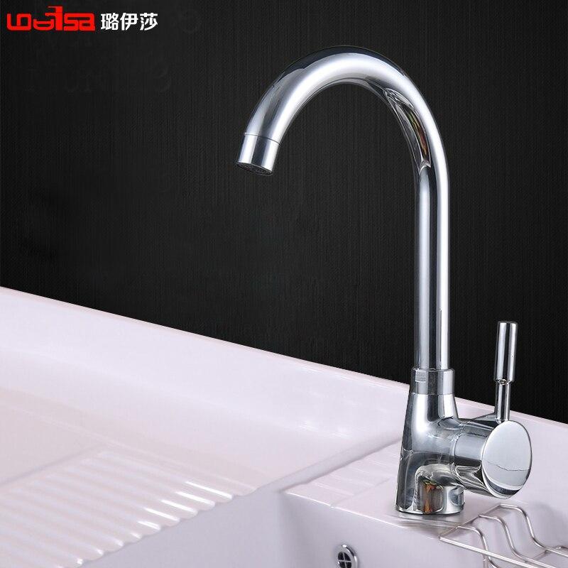 Free Shipping Brass Chrome Luxury Kitchen Faucet,deck Mounted Modern Kitchen  Sink Mixer Tap,