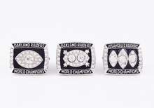 Drop Shipping Good Quality 3 Years Sets 1976/1980/1983 Super Bowl Oakland Raiders Championship Rings sets(China)