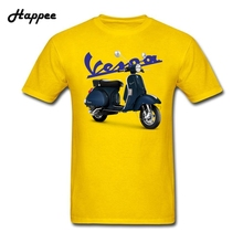 New Coming Vespa PX 125 Tees T-Shirt Men's 100% Cotton Big Size Vespa T Shirts Men Youth T Shirts Short Sleeve XS-3XL