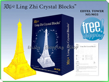 DIY 3d crystal puzzle Eiffel Tower 2color jigsaw model building puzzles kids educational toys for children brinquedos educativos(China)