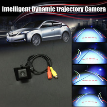 Car Intelligent Reversing Trajectory Tracks Camera Rear View Backup Parking For Toyota Land Cruiser Prado LC 150 LC150 2010~2014(China)