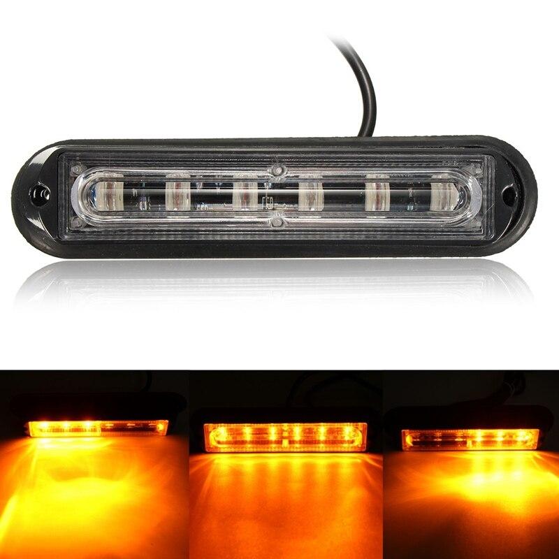 6 LED Car Trailer Boat Emergency Light Bar Hazard Flashing Beacon/Strobe Warning Lamp DC12V-24V<br><br>Aliexpress