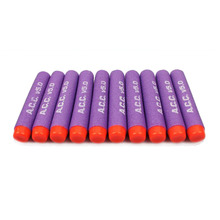 100 Pcs Purple 7.2cm Toy Gun Refill Clip Darts Series Blasters for ACC V5.0 Professional Team Printed Soft Bullets Children Gift