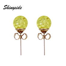 new fashion brand jewelry simple beads stud earrings for women metal statement gift earrings free shipping