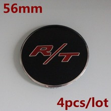 KOM POWER 56.5MM R/T LOGO Sticker Wheel Center Caps Sticker RT Emblem Badge Wheels Cover Hub Cap Sticker For Dodge Charger R/T