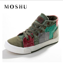 Fashion Sneakers High Top Women Casual Shoes Patchwork Ladies Canvas Shoes Female Trainers Canvas Espadrilles Sapato Feminino(China)