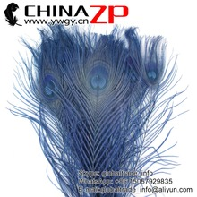 Gold Plumage Supplier CHINAZP Factory 100pcs/lot Full Eye Dyed Navy Peacock tail Feathers