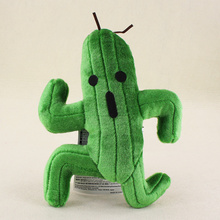 24cm Cute Final Fantasy Green Cactus Cactuar Plush Soft stuffed Animal Doll Toys for kids gifts