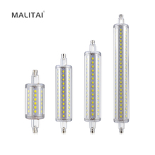 1Pcs High Power 5W 10W 12W 15W 85V-265V 110V 220V R7S LED lamp J78 J118 J135 J189 Horizontal Plug Bulb For Floodlight Lawn light
