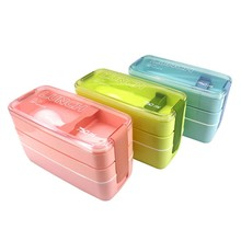 Portable Home Kitchen Lunch Boxes Containers Microwave Bento Box Children Picnic Food Containers Food Storage Box Lunch Boxs