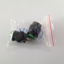 2PCS/LOT  YT113  16 mm Locking Latching Green Light Off/On Push Button Switch AC 250V 3A Free Shipping