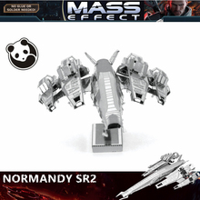 JWLELE@MASS effect NORMANDY SR2 3D metal puzzle model nano 1 Sheets Wholesale price Stainless steel DIY Creative gifts