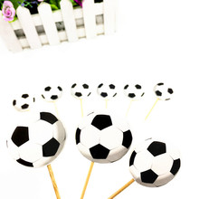 10pcs football topper kids birthday wedding party supplies football cake toppers cake picker happy birthday party supplies