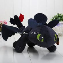 40cm 15.8'' How to Train Your Dragon 2 Plush Toy Night Fury Toothless Dragon Soft Plush Doll Toys Collection Gift