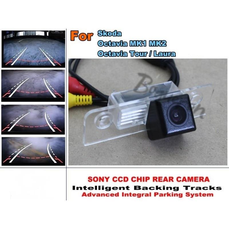 Car Intelligent Parking Tracks Camera / For Skoda Octavia Tour / Laura HD Back up Reverse Camera / Rear View Camera<br><br>Aliexpress