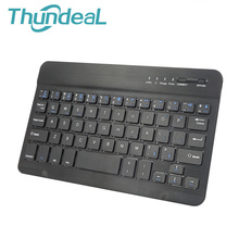 ThundeaL Ultra Slim Multimedia Aluminum Wireless Mini Bluetooth Keyboard 7.9 9.7 inch For IOS Android Windows PC Tablet Ipad Air(China)