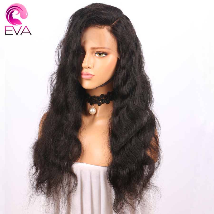 Eva Hair Pre Plucked Full Lace Human Hair Wigs With Baby Hair Natural Color Brazilian Body Wave Remy Hair Wigs For Black Women(China)