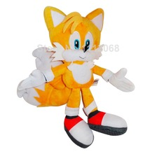 "New Sonic the Hedgehog Tails Ultimate Flash Anime Fox Plush Toys 20CM 8""Fox Stuffed Animal Kids Doll Gift Soft Toys For Children(China)"