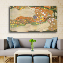 Free shipping modern Best Gustav Klimt nude art wall paintings for home decor idea oil painting art print on canvas No Framed