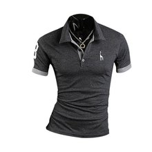 Summer Fashion Captivating turn-down collar Men Polo Shirt Casual Slim Fittness Short Sleeve Embroidery  Shirt Plus size M-XXXL