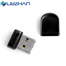 LEIZHAN USB Flash Drive Mini Black USB Flash Drive 4GB 8GB 16GB 32GB Cute Pendrive USB 2.0 Pen Drive Mini U Disk Memory Stick
