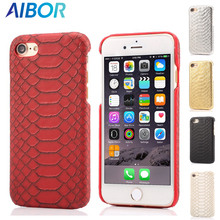 AIBOR Luxury Sexy Snake Skin Slim Case for iPhone X 5 5S SE 6 6S plus 7 Plus 8 Plus Leather+Hard Plastic Cell Phone Back Cover(China)