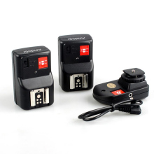 Andoer PT-04GY 4 Channels Wireless Remote Speedlite Flash Trigger 1 Transmitter and 2 Receivers for Canon Nikon Pentax Olympus